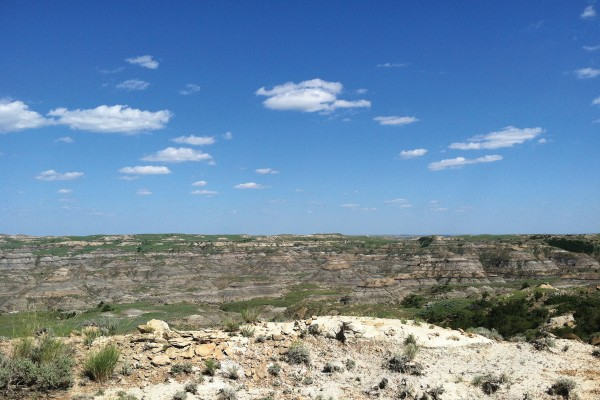 Hell Creek badlands